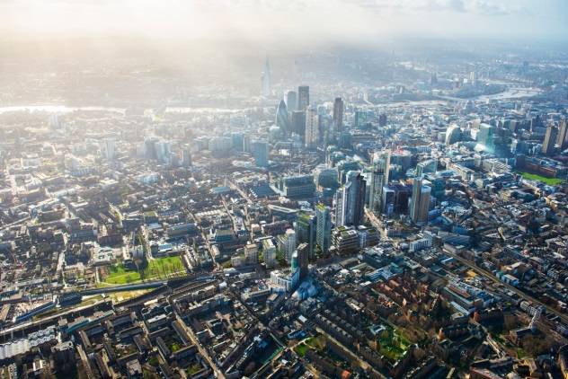 An aerial view of the proposals for the Bishopsgate Goodsyard