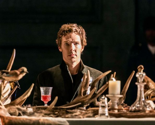 Benedict Cumberbatch as Hamlet  in Hamlet at the Barbican theatre. Image credit: Johan Persson