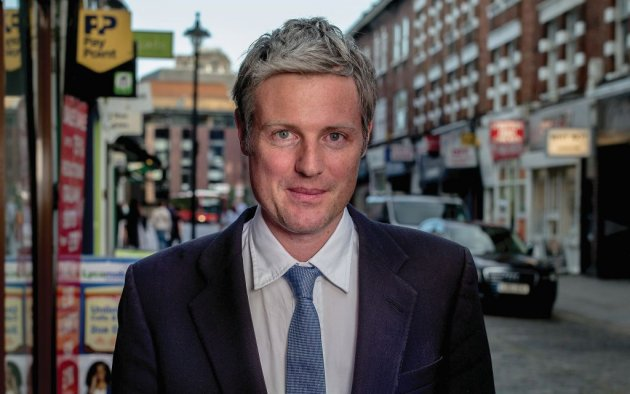 Zac Goldsmith. Photo credit Andrew Parsons