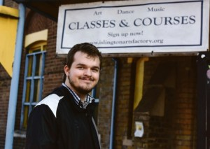 Despite his school troubles, Chris works to help educate struggling disabled people.