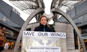 VIDEO: 10-year-old local resident launches campaign to save Angel Wings sculpture
