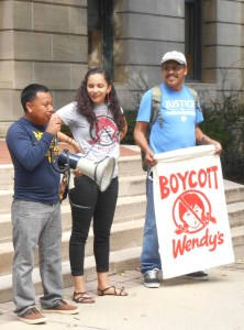 On Oct. 7, 2016, CIW representatives called on OSU's president to boot Wendy's from campus until the fast food giant joins the Fair Food Program.