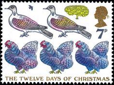 12 Days of Christmas postage stamp