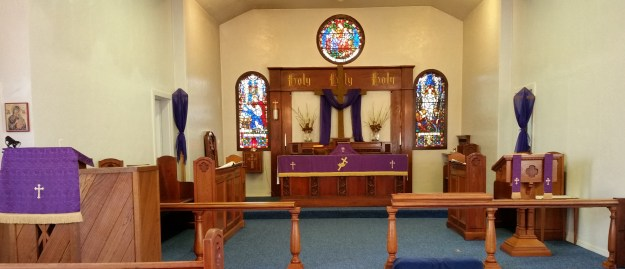Front altar during Holy Week