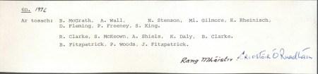 Class List of 1972 6D