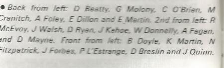 Class List of 1986 6A