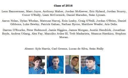 Class of 2016 Caption