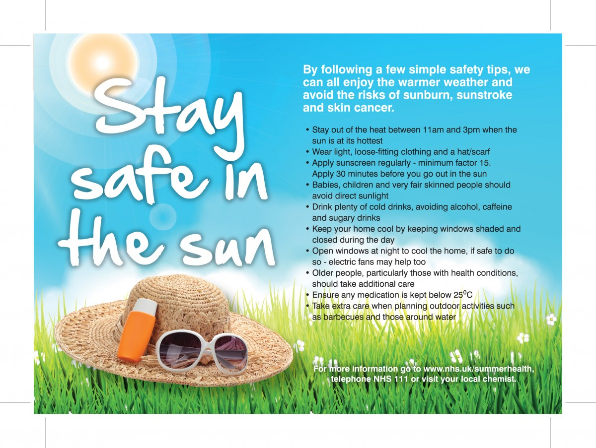 Nhs Sun Safety Poster K3lh Hse Indonesia