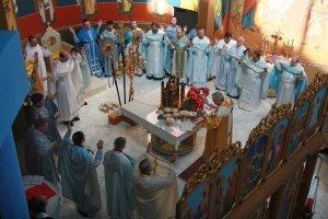 A Divine Liturgy with Roman Catholic concelebrants.