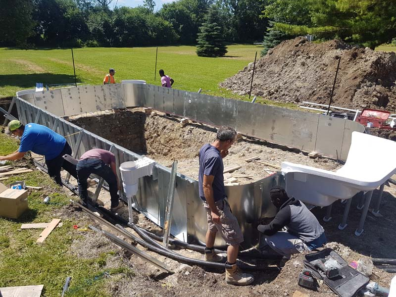 St Lawrence Pools Vinyl Pool Constuction