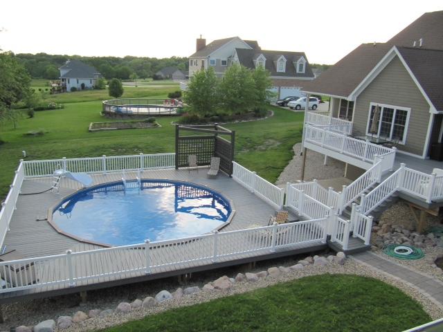 Oval inground pool