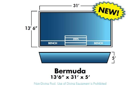 """Bermuda 13'6"""" x 31' x 5'"""