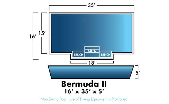 Bermuda 2 16' x 35' x 5'