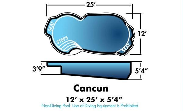"""Cancun 12' x 25' x 5'4"""""""