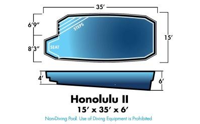 Honolulu 2 15' x 35' x 6'