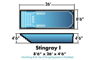 """Stingray I 8'6"""" x 26' x 4'6"""""""