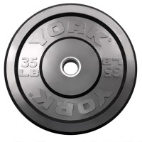 York Barbell Solid Rubber Bumper Plate 35l