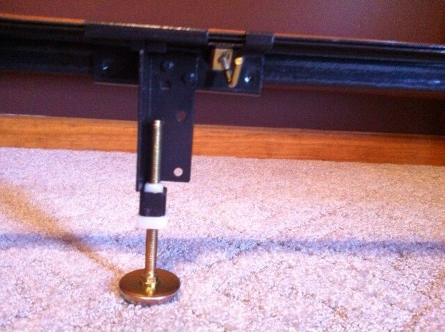 Steel Bed Frame Center Support 3 Rails, 3 Adjustable Legs