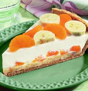 Banana Mandarin Cream Cheese Pie