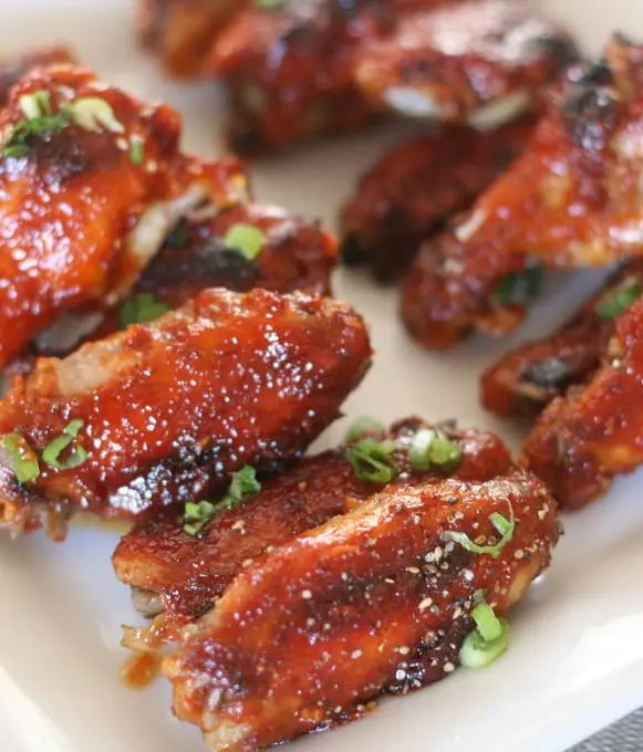 These Korean-Style Spicy Chicken Wings have all the right flavors: Sweet, salty, sour, and spicy! Good luck stopping with just one!