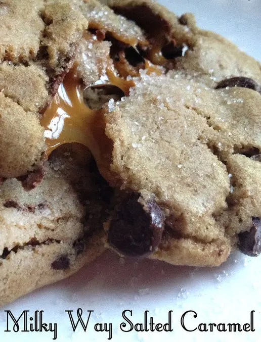 Just one bite into these Milky Way Salted Caramel Chocolate Chip Cookies will begin a revolution of flavor in your mouth by amping up ordinary chocolate chip cookies with a bit of salted caramel!