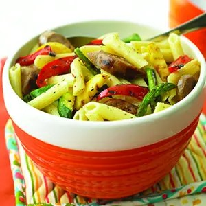 Grilled Sausage-and-Summer Vegetable Pasta