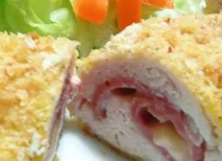 This easy Chicken Cordon Bleu is a family favorite stuffed with ham and melted cheese! An easy to make and elegant entree