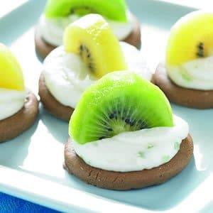 Kiwifruit Cheesecake Ginger Bites