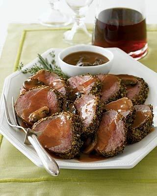 Filet Mignon with Mushroom and Madeira Sauce