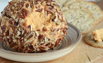 Looking for an easy recipe to serve at your next party? Paired with crackers, this Cheddar Blue Cheese Ball is the perfect answer.