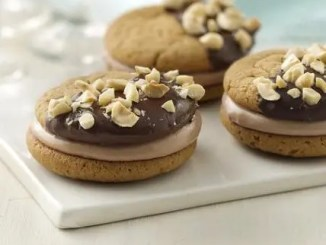 Recipe for Chocolate Hazelnut Peanut Butter Sandwich Cookies