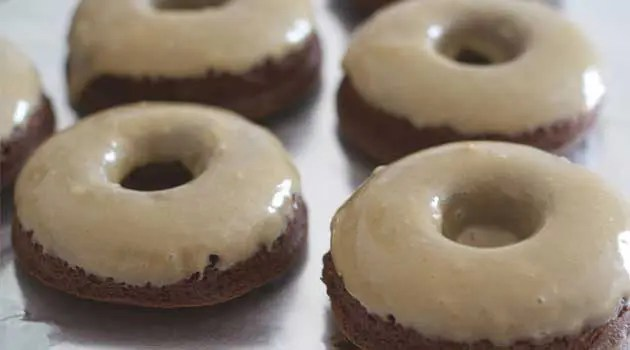 Baked Espresso Brownie Doughnuts - If you like the idea of a brownie that's been transformed into a doughnut and infused with espresso, then this recipe is for you!