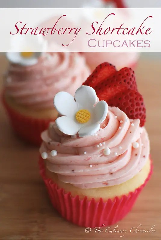 Recipe for Strawberry Shortcake Cupcakes