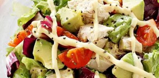 Recipe for Avocado Chicken Salad - This quick and easy chicken salad recipe is perfect for a light lunch or dinner.