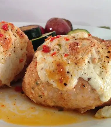 Recipe for Baked Chicken Stuffed with Sun Dried Tomato and Fresh Mozzarella