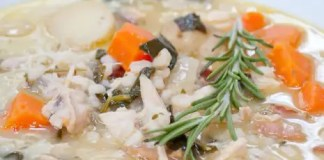 Recipe for Chicken Stew with Spinach and Barley
