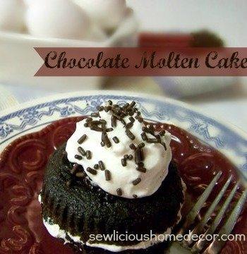 Recipe for Chilis Knockoff Chocolate Molten Cake