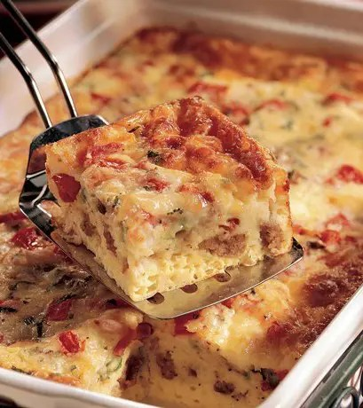 Recipe for Ham Egg and Cheese Bake