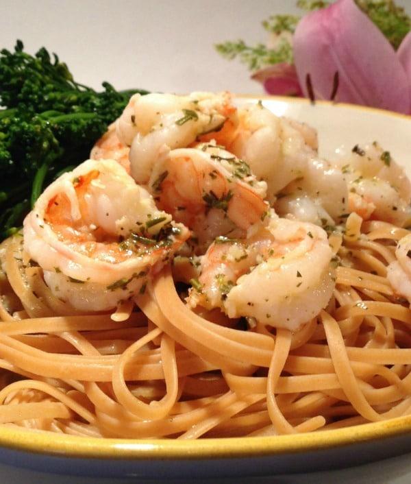 Recipe for White Wine Lemon and Herb Shrimp