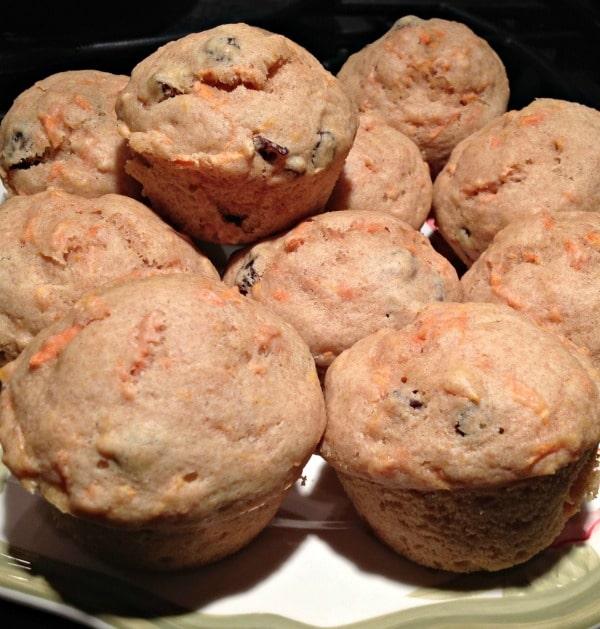 Carrot and Raisin Breakfast Muffins