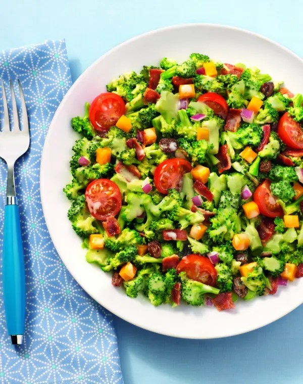 Broccoli Salad with Bacon and Tomatoes
