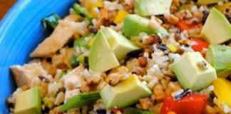 Recipe for Avocado-Chicken and Rice Bake
