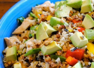 Recipe for Avocado-Chicken and Rice Bake