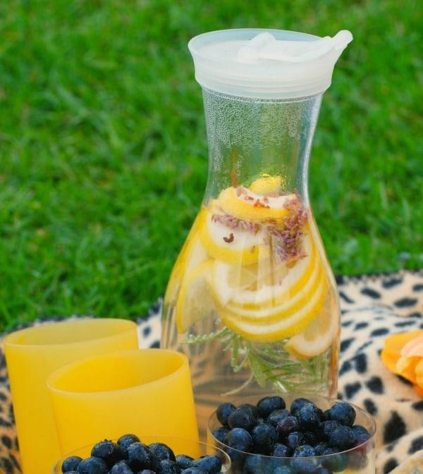 Rosemary Lavender Lemon Sun Tea