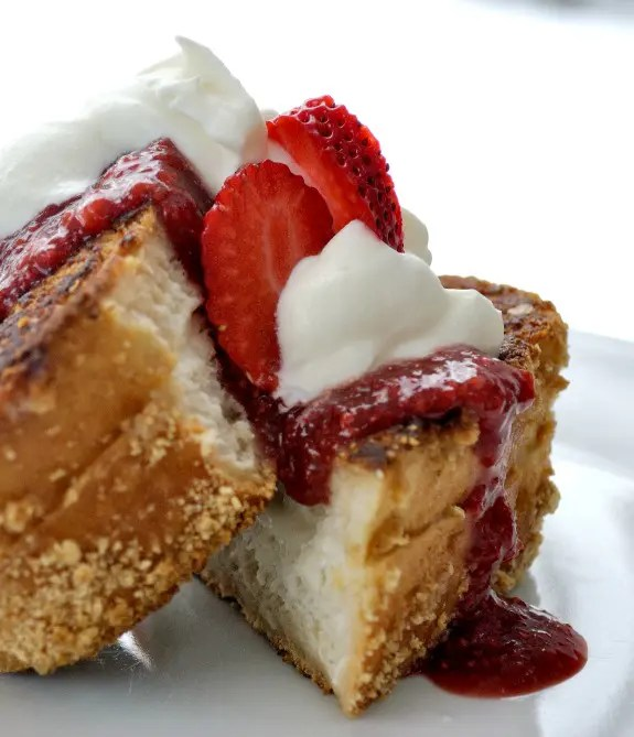 Cheesecake French Toast with Fresh Strawberry Sauce