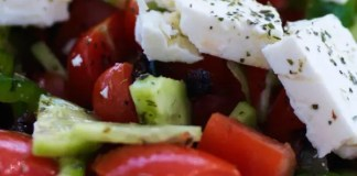 The traditional Greek Salad is a fresh, tasty and satisfying meal, which is wonderful on it's own or as side dish.