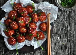 Recipe for Saucy Asian Sesame Meatballs