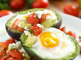 Recipe for Mexican Baked Avocado Eggs