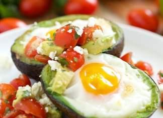 Recipe for Mexican Baked Avocado Eggs