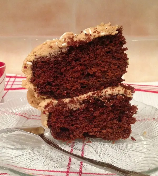 Chocolate Cake with Peanut Butter Buttercream